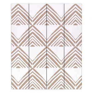 Decorative Wood Plank Wall Art   Traci Nichole Design Studio - Market Mono Pyramid Cafe   Patterns Southwestern