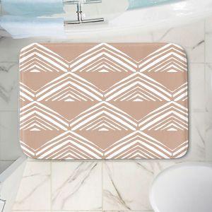 Decorative Bathroom Mats | Traci Nichole Design Studio - Market Mono Pyramid Cafe ConLeche | Patterns Southwestern