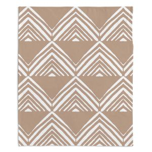Decorative Fleece Throw Blankets | Traci Nichole Design Studio - Market Mono Pyramid Cafe ConLeche | Patterns Southwestern
