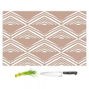 Artistic Kitchen Bar Cutting Boards | Traci Nichole Design Studio - Market Mono Pyramid Cafe ConLeche | Patterns Southwestern
