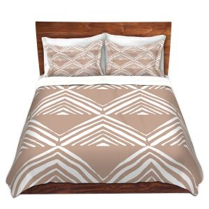Artistic Duvet Covers and Shams Bedding | Traci Nichole Design Studio - Market Mono Pyramid Cafe ConLeche | Patterns Southwestern