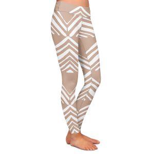 Casual Comfortable Leggings | Traci Nichole Design Studio - Market Mono Pyramid Cafe ConLeche | Patterns Southwestern