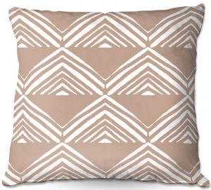 Throw Pillows Decorative Artistic | Traci Nichole Design Studio - Market Mono Pyramid Cafe ConLeche | Patterns Southwestern