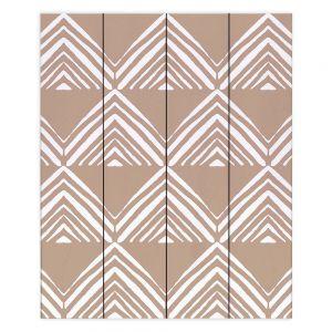 Decorative Wood Plank Wall Art   Traci Nichole Design Studio - Market Mono Pyramid Cafe ConLeche   Patterns Southwestern
