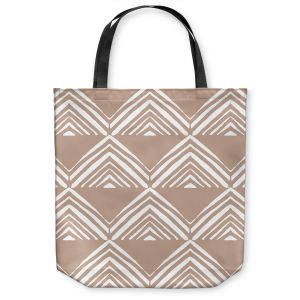 Unique Shoulder Bag Tote Bags | Traci Nichole Design Studio - Market Mono Pyramid Cafe ConLeche | Patterns Southwestern