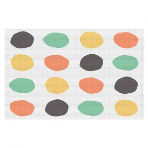 Decorative Floor Coverings | Traci Nichole Design Studio - Oblong Dots Multi Square