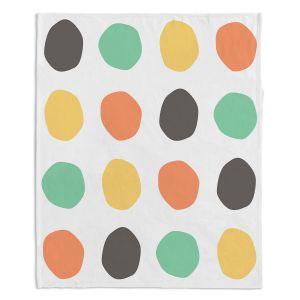 Decorative Fleece Throw Blankets | Traci Nichole Design Studio - Oblong Dots Multi Square
