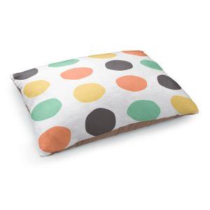Decorative Dog Pet Beds | Traci Nichole Design Studio - Oblong Dots Multi Square