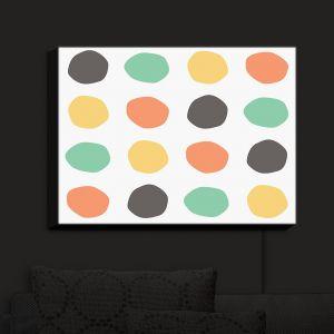 Nightlight Sconce Canvas Light | Traci Nichole Design Studio - Oblong Dots Multi Square | Patterns
