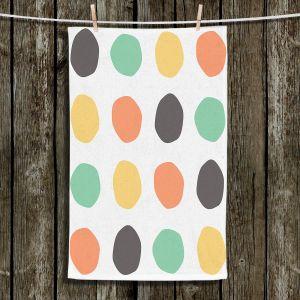 Unique Hanging Tea Towels | Traci Nichole Design Studio - Oblong Dots Multi Square | Patterns
