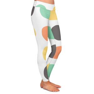 Casual Comfortable Leggings | Traci Nichole Design Studio - Oblong Dots Multi Square