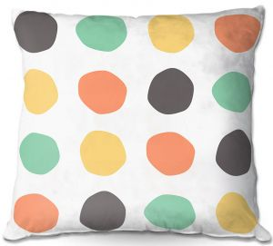Decorative Outdoor Patio Pillow Cushion   Traci Nichole Design Studio - Oblong Dots Multi Square