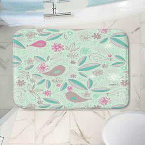 Decorative Bathroom Mats | Traci Nichole Design Studio - Partridge Robin | Patterns Birds Childlike