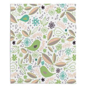 Decorative Fleece Throw Blankets | Traci Nichole Design Studio - Partridge Spring | Patterns Birds Childlike