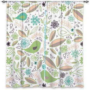 Decorative Window Treatments | Traci Nichole Design Studio - Partridge Spring | Patterns Birds Childlike
