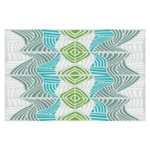 Decorative Floor Coverings | Traci Nichole Design Studio - Rapids Blue Green