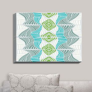Decorative Canvas Wall Art | Traci Nichole Design Studio - Rapids Blue Green | Patterns