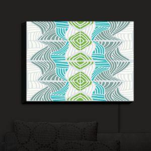 Nightlight Sconce Canvas Light | Traci Nichole Design Studio - Rapids Blue Green | Patterns