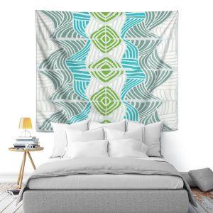 Artistic Wall Tapestry | Traci Nichole Design Studio - Rapids Blue Green