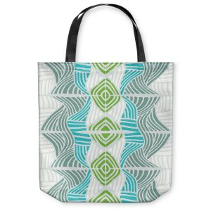 Unique Shoulder Bag Tote Bags | Traci Nichole Design Studio - Rapids Blue Green