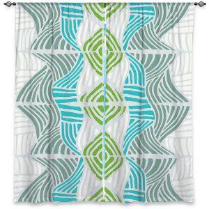 Decorative Window Treatments   Traci Nichole Design Studio - Rapids Blue Green