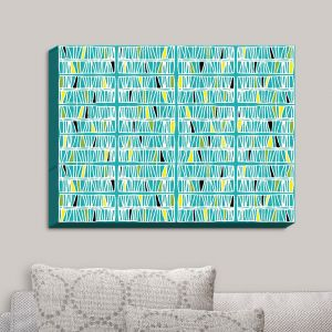 Decorative Canvas Wall Art | Traci Nichole Design Studio - Scratch Ocean | Patterns