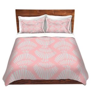 Artistic Duvet Covers and Shams Bedding | Traci Nichole Design Studio - Seashell Cotton Candy | Patterns Seashell
