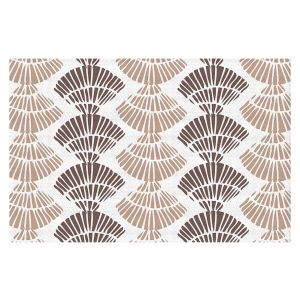 Decorative Floor Coverings | Traci Nichole Design Studio - Seashell Latte | Patterns Seashell