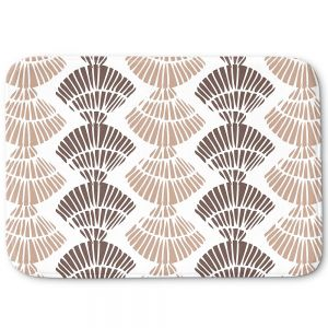 Decorative Bathroom Mats   Traci Nichole Design Studio - Seashell Latte   Patterns Seashell