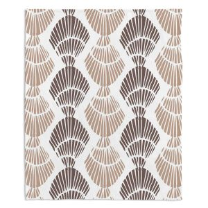 Artistic Sherpa Pile Blankets | Traci Nichole Design Studio - Seashell Latte | Patterns Seashell