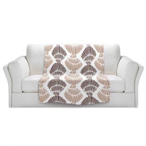 Artistic Sherpa Pile Blankets   Traci Nichole Design Studio - Seashell Latte   Patterns Seashell