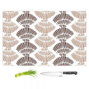 Artistic Kitchen Bar Cutting Boards | Traci Nichole Design Studio - Seashell Latte | Patterns Seashell