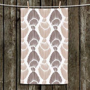Unique Hanging Tea Towels | Traci Nichole Design Studio - Seashell Latte | Patterns Seashell