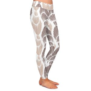 Casual Comfortable Leggings | Traci Nichole Design Studio - Seashell Latte | Patterns Seashell