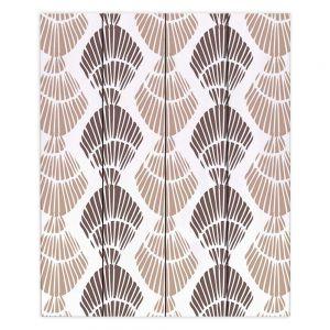 Decorative Wood Plank Wall Art | Traci Nichole Design Studio - Seashell Latte | Patterns Seashell