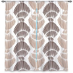 Decorative Window Treatments | Traci Nichole Design Studio - Seashell Latte | Patterns Seashell