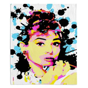 Decorative Fleece Throw Blankets | Ty Jeter - Audrey Hepburn
