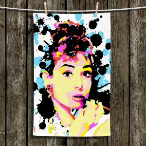 Unique Hanging Tea Towels | Ty Jeter - Audrey Hepburn | Famous Actress Passions Movie Stars