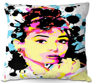 Decorative Outdoor Patio Pillow Cushion | Ty Jeter - Audrey Hepburn