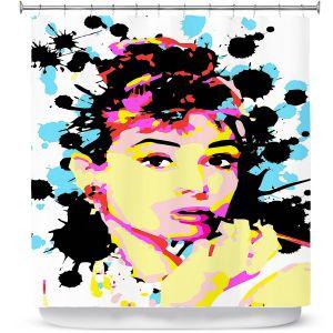 Premium Shower Curtains | Ty Jeter - Audrey Hepburn