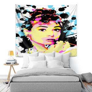 Artistic Wall Tapestry | Ty Jeter - Audrey Hepburn
