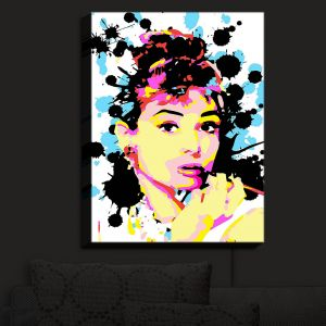 Nightlight Sconce Canvas Light | Ty Jeter - Audrey Hepburn | Famous Actress Passions Movie Stars