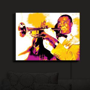 Nightlight Sconce Canvas Light   Ty Jeter - Louis Armstrong   Musician New Orleans Jazz Singer