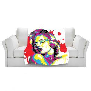 Artistic Sherpa Pile Blankets | Ty Jeter Marilyn Monroe III