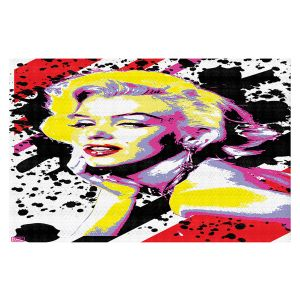 Decorative Floor Covering Mats | Ty Jeter - Marilyn Monroe VI | pop art celebrity famous model portrait