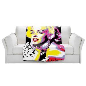 Artistic Sherpa Pile Blankets   Ty Jeter - Marilyn Monroe VI   pop art celebrity famous model portrait