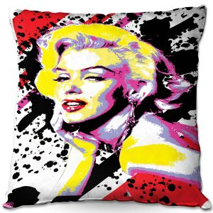 Decorative Outdoor Patio Pillow Cushion | Ty Jeter - Marilyn Monroe VI | pop art celebrity famous model portrait