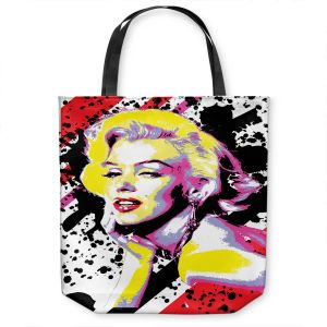 Unique Shoulder Bag Tote Bags | Ty Jeter - Marilyn Monroe VI | pop art celebrity famous model portrait