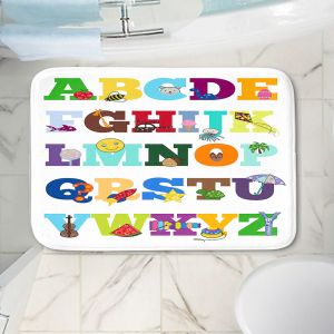 Decorative Bathroom Mats   Valerie Lorimer - Alphabet