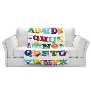 Artistic Sherpa Pile Blankets | Valerie Lorimer - Alphabet